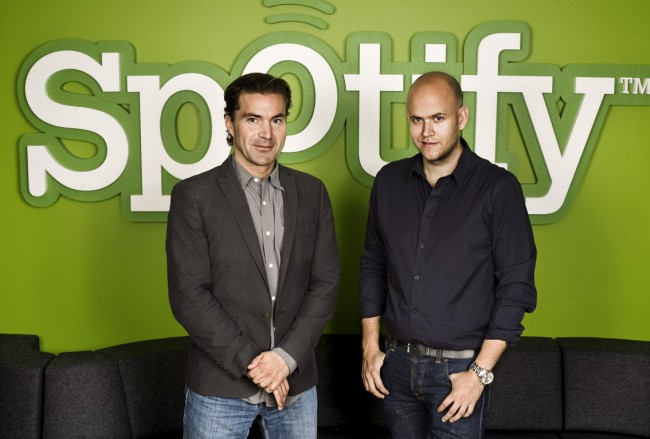 Spotify founders Martin Lorentzon (left) and Daniel Ek via BBC