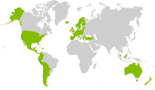 Spotify availability by country. Image via Spotify.