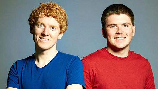 Stripe Co-founders Patrick and John Collison.